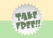 take free!! ご自由にお持ち下さい