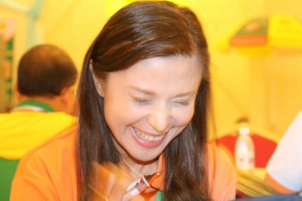 台湾の人気タレントのロズリンさんもコドライバーとして活躍されてました。可愛くて大人気!