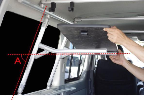 車の壁は思ったよりも斜めになっている
