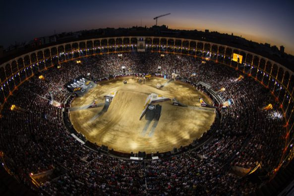 The Plaza de Toros de Las Ventas seen during the finalsof the Red Bull X-Fighters in Madrid, Spain on June 24, 2016. // Joerg Mitter / Red Bull Content Pool // P-20160625-00515 // Usage for editorial use only // Please go to www.redbullcontentpool.com for further information. //
